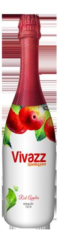 Vivazz Sparkling Juice – Táo đỏ
